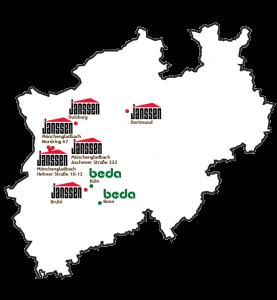 Karte Janssen Dach Standorte